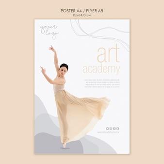 Design de cartaz de academia de arte