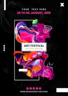 Design de cartaz de arte fluida