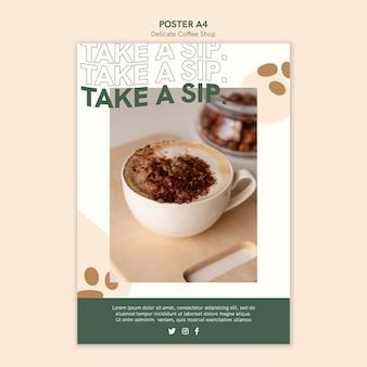 Design de cartaz de café delicado