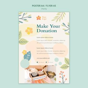 Design de cartaz de caridade