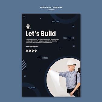 Design de cartaz de carreira de arquiteto