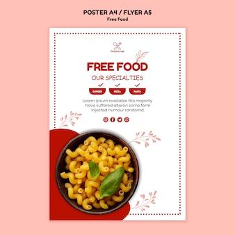 Design de cartaz de comida grátis