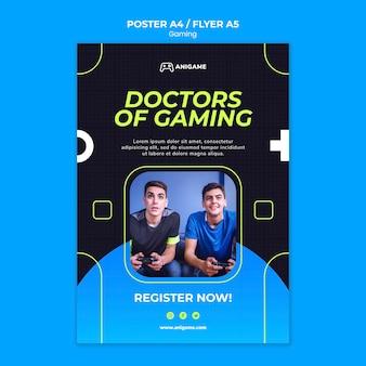 Design de cartaz de conceito de jogos