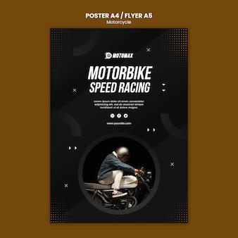 Design de cartaz de conceito de motocicleta
