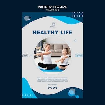 Design de cartaz de conceito de vida saudável