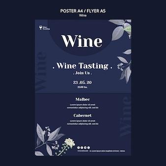 Design de cartaz de degustação de vinhos