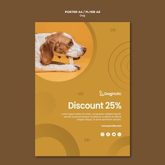 Design de cartaz de desconto de amantes de cães