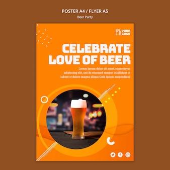 Design de cartaz de festa de cerveja