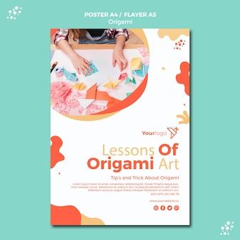 Design de cartaz de origami
