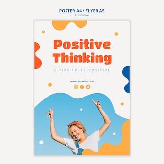 Design de cartaz de pensamento positivo