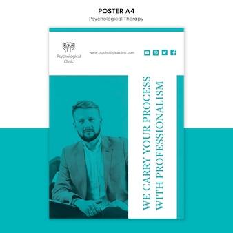 Design de cartaz de terapia psicológica