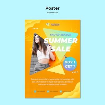 Design de cartaz de venda de verão