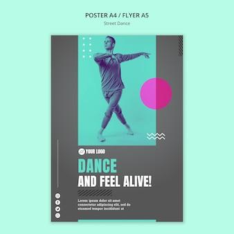 Design de cartaz do conceito de dança de rua