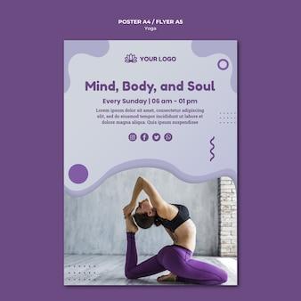 Design de cartaz do conceito de ioga