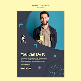 Design de cartaz do conceito de positivismo