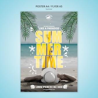 Design de cartaz do conceito de verão