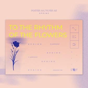 Design de cartaz festival de música primavera
