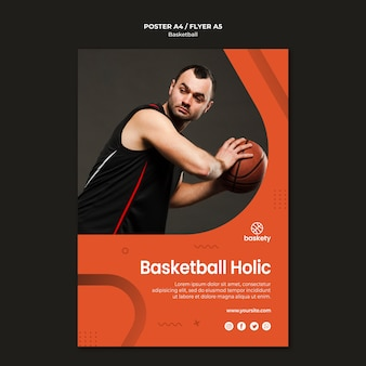 Design de cartaz holic de basquete