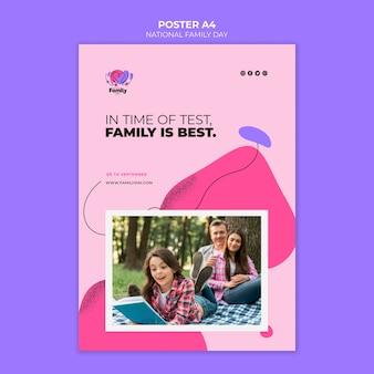 Design de cartaz nacional do dia da família