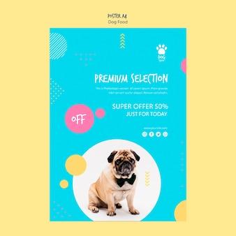 Design de cartaz para oferta de comida de cachorro