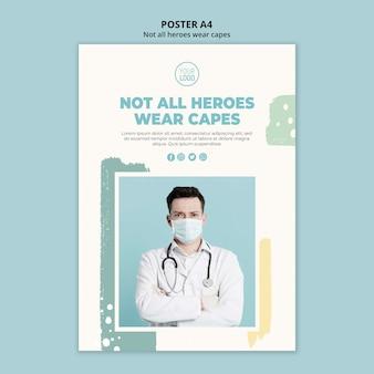 Design de cartaz profissional médico