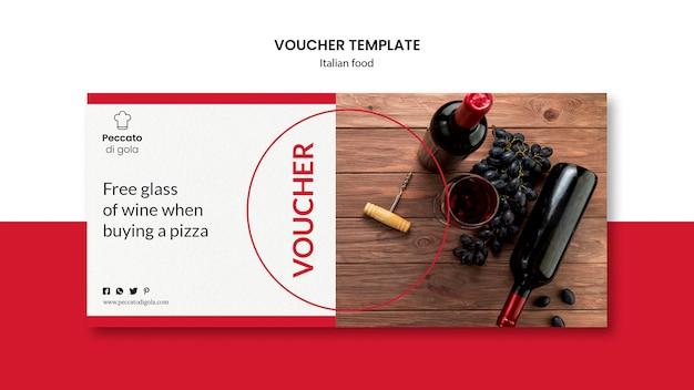 Design de comprovante de cozinha italiana