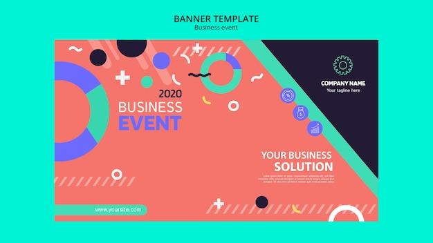 Design de conceito de evento de negócios para modelo