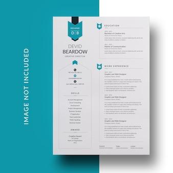 Design de currículo criativo e currículo moderno
