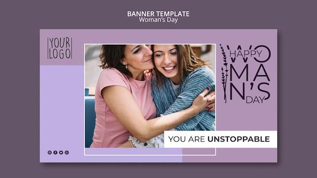 Design de dia da mulher para o modelo de banner