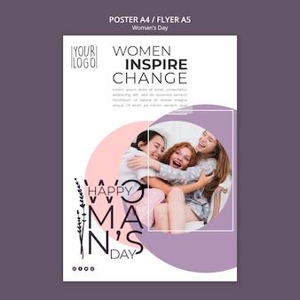 Design de dia da mulher para o modelo de cartaz