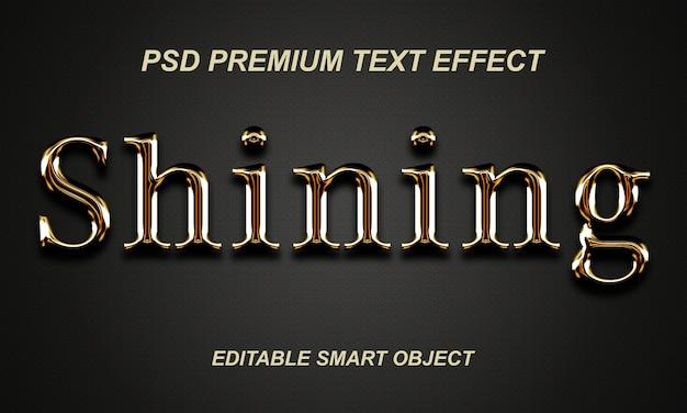 Design de efeito de texto brilhante