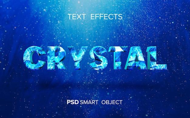 Design de efeito de texto de cristal