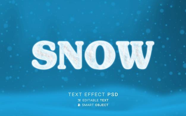 Design de efeito de texto de neve
