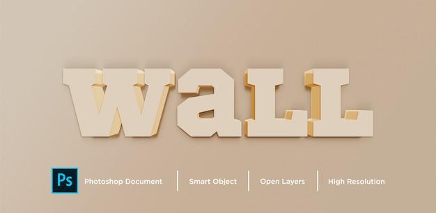 Design de efeito de texto de parede