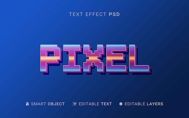 Design de efeito de texto de pixel