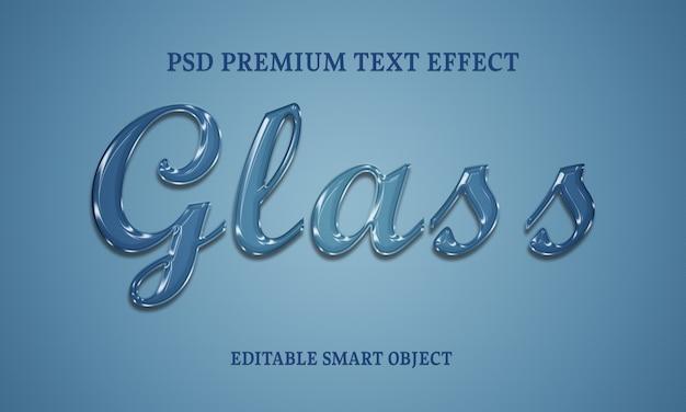 Design de efeito de texto de vidro