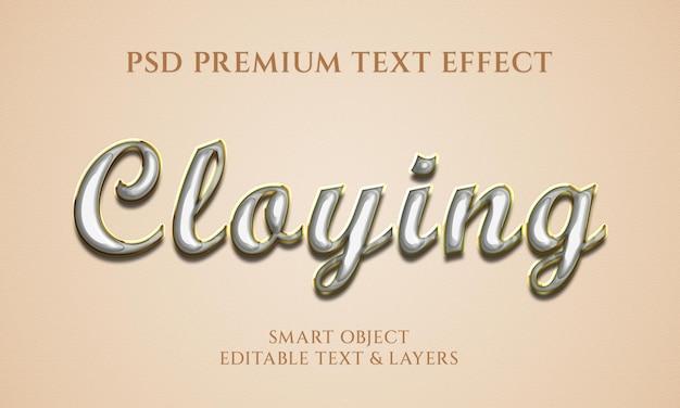 Design de efeito de texto enjoativo