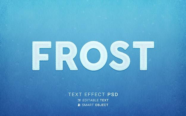 Design de efeito de texto gelado
