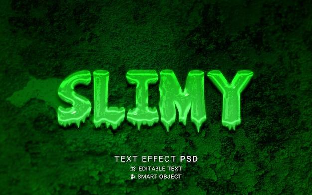 Design de efeito de texto limoso