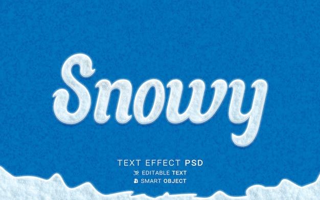 Design de efeito de texto nevado