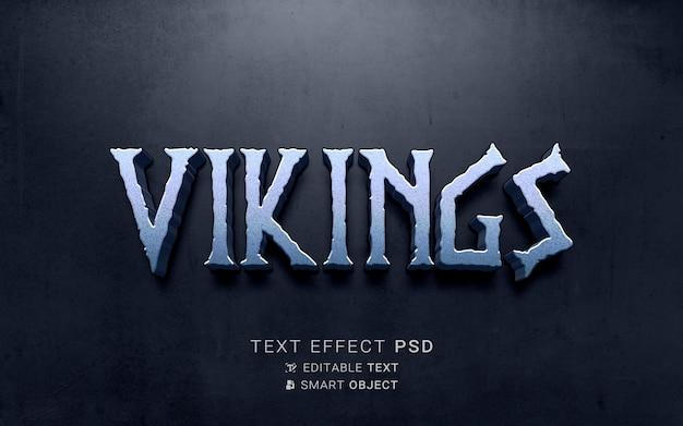 Design de efeito de texto viking