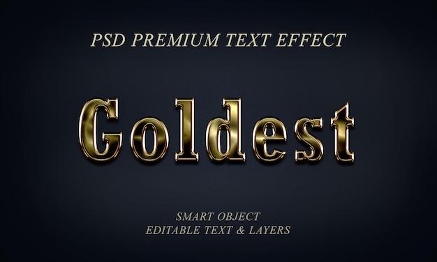 Design de efeito goldest text