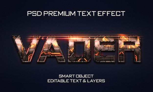 Design de efeitos de texto scifi vader