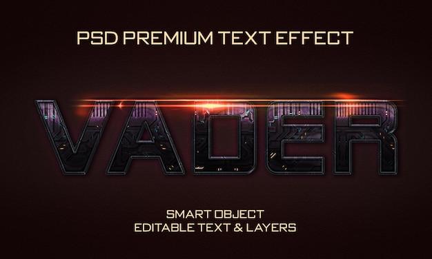 Design de efeitos de texto vader scifi