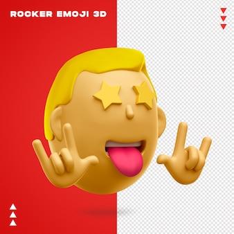 Design de emoji 3d de rocker