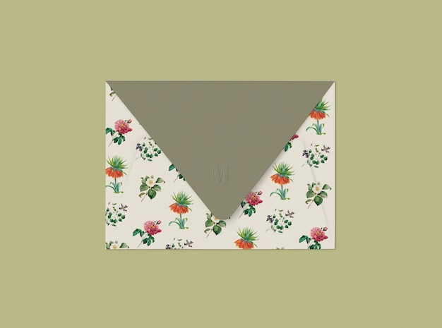 Design de envelope floral