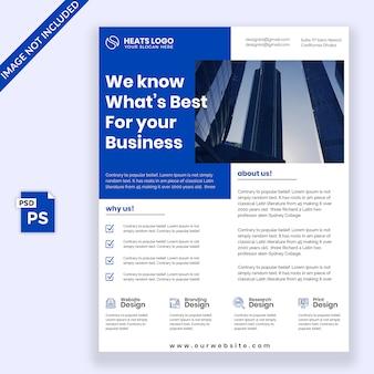 Design de folheto azul