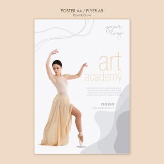 Design de folheto de academia de arte