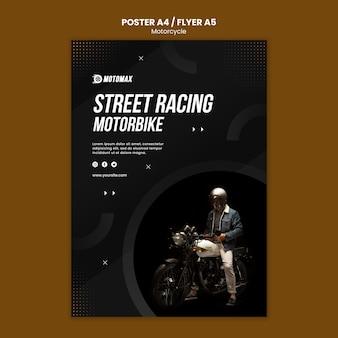Design de folheto de conceito de motocicleta