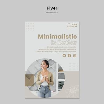 Design de folheto de escritório minimalista